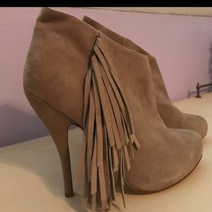 Shoes - Fringed ankle booties
